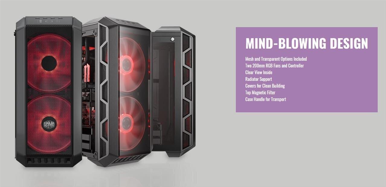 Boîtier Cooler Master H500 : verre trempé et ventilateurs RGB de 200 mm, pour 99,99 euros