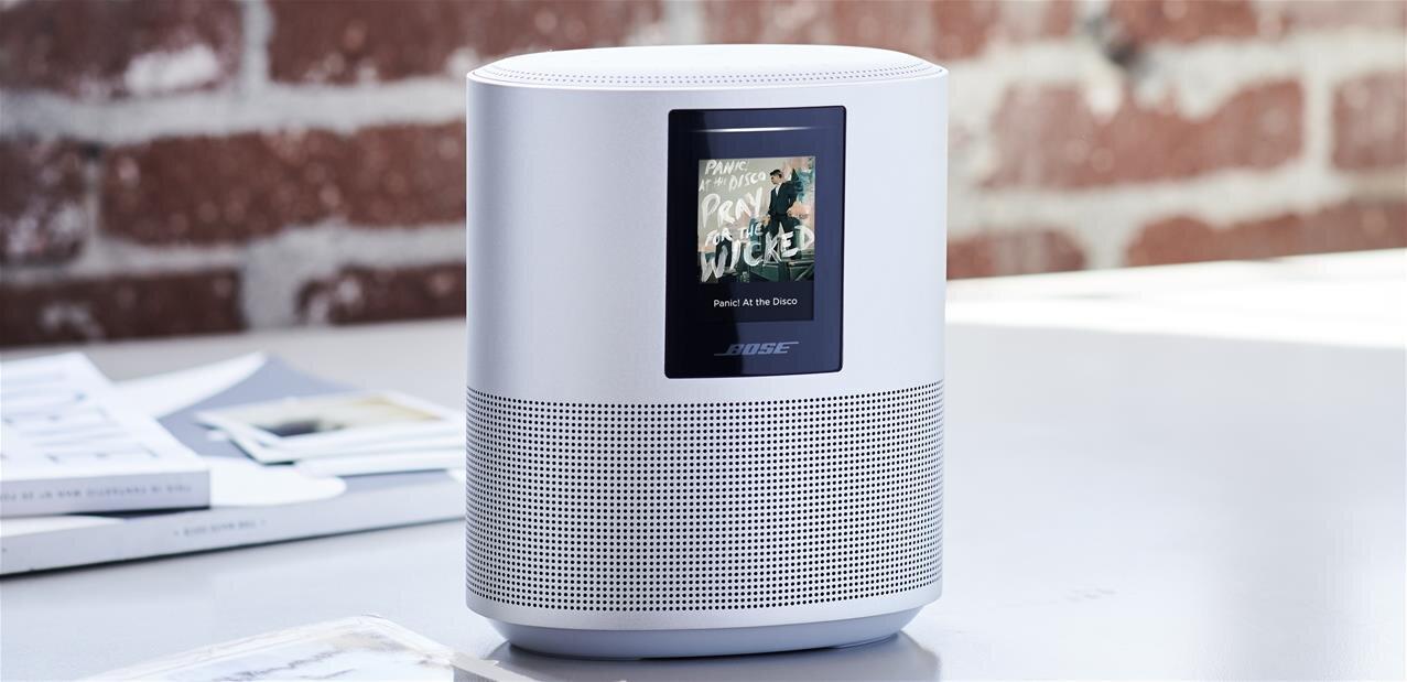 Trois enceintes connectées Alexa chez Bose