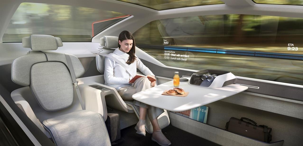 Bureau, salon ou chambre : Volvo présente son concept de voiture autonome 360c