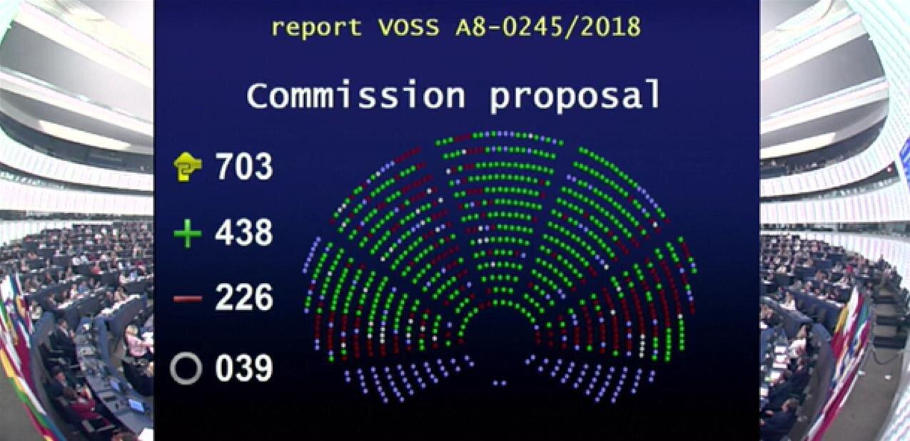 Le Parlement européen adopte la proposition de directive sur le droit d'auteur