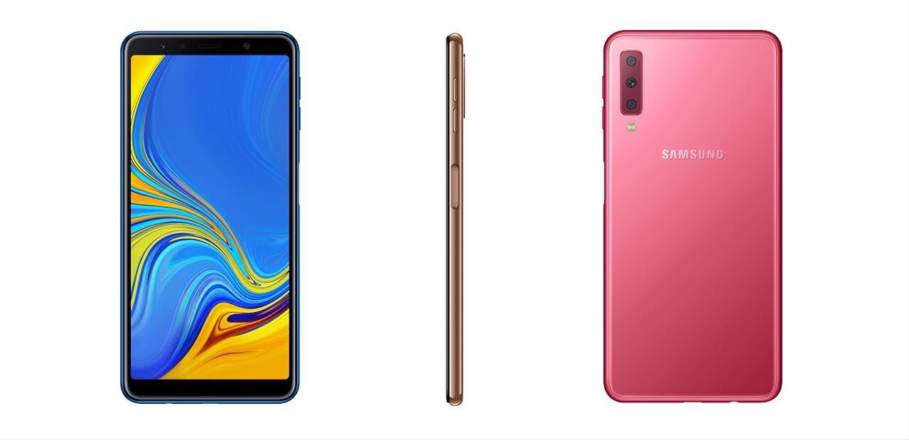 """Samsung Galaxy A7 2018 : trois capteurs à l'arrière et écran de 6"""" pour 349 euros"""