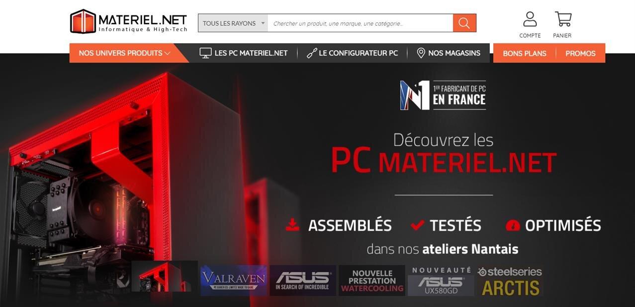 Nouveau site pour Materiel.net : la fusion dans le groupe LDLC devient plus visible
