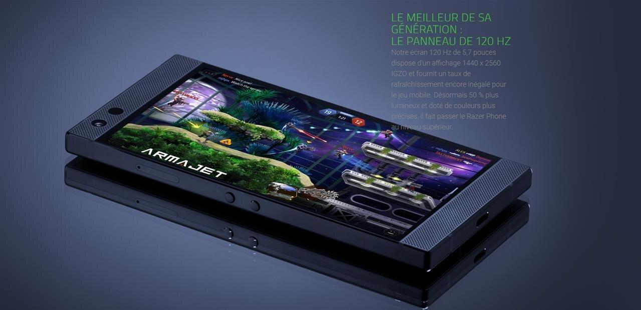 Razer Phone 2 : même écran à 120 Hz, SoC plus rapide et Chroma (RGB) pour 849,99 euros