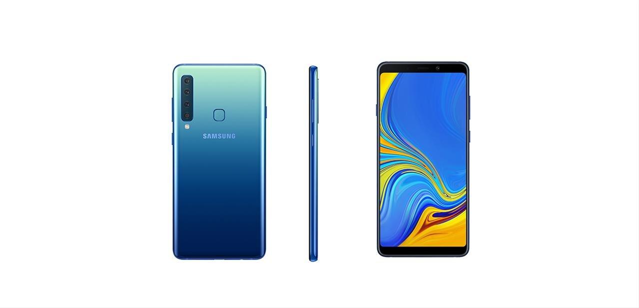 """Samsung annonce son Galaxy A9 de 6,3"""" avec cinq capteurs photo, pour 599 euros"""
