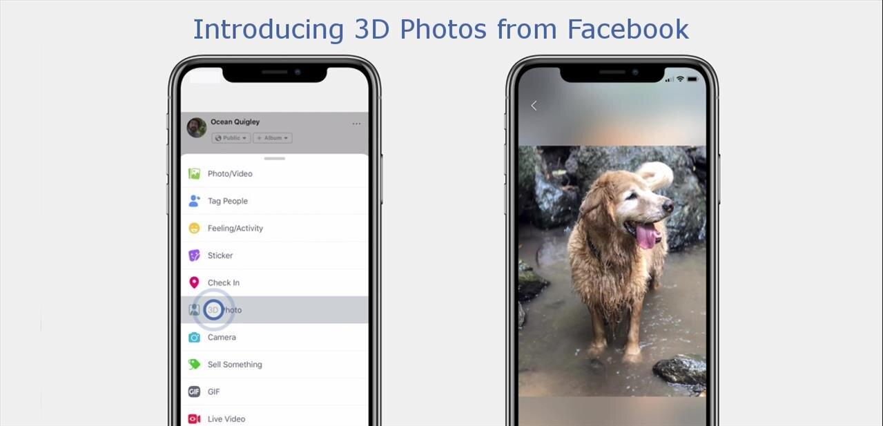 Facebook lance les 3D Photos pour « donner vie » aux photos du mode Portrait des iPhone