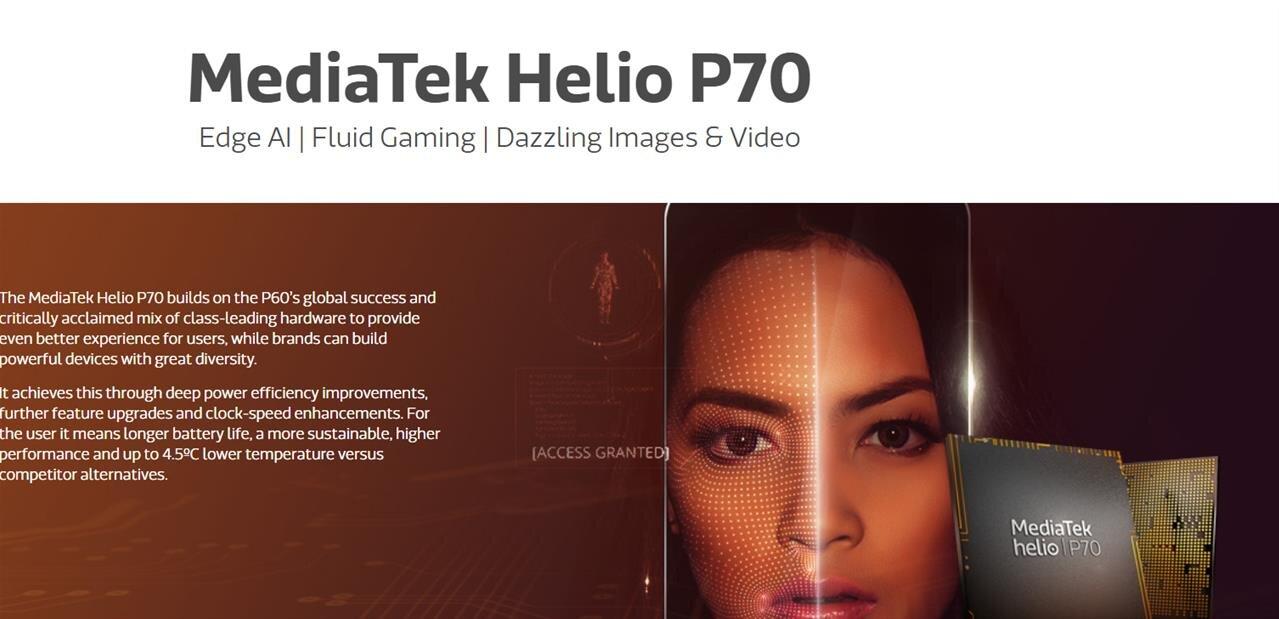 MediaTek annonce son SoC Helio P70 : 100 MHz de plus que le P60, 10 à 30 % de mieux sur l'IA
