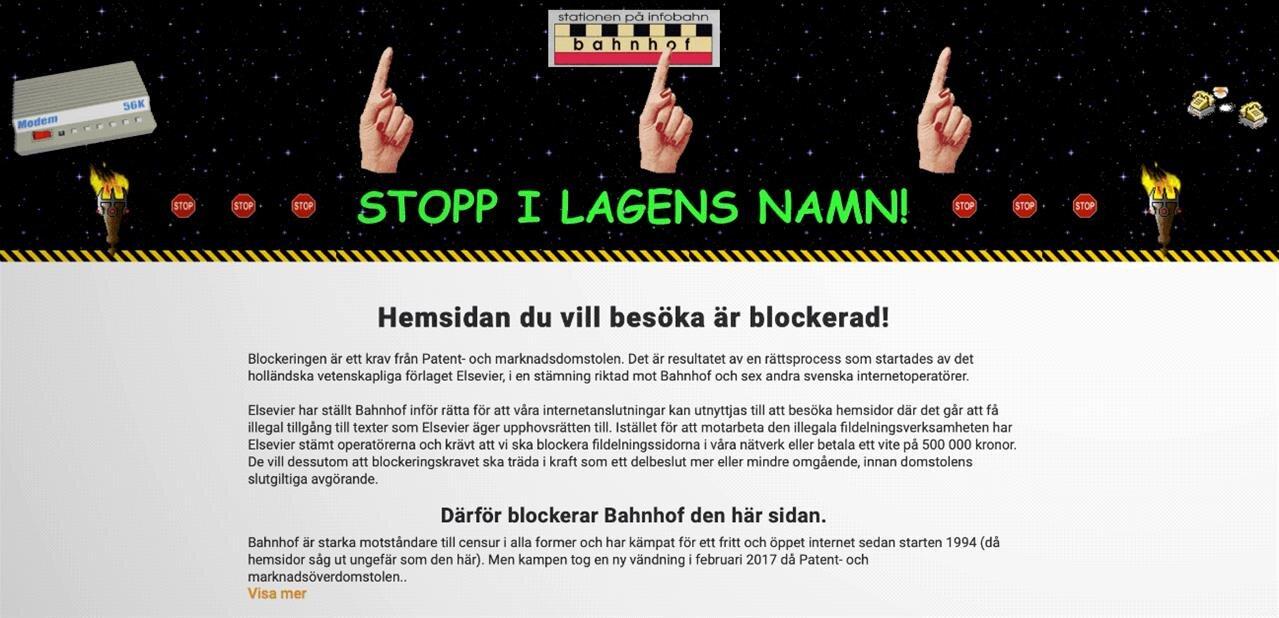 Un FAI suédois bloque le site d'Elsevier… qui demande le blocage de Sci-Hub