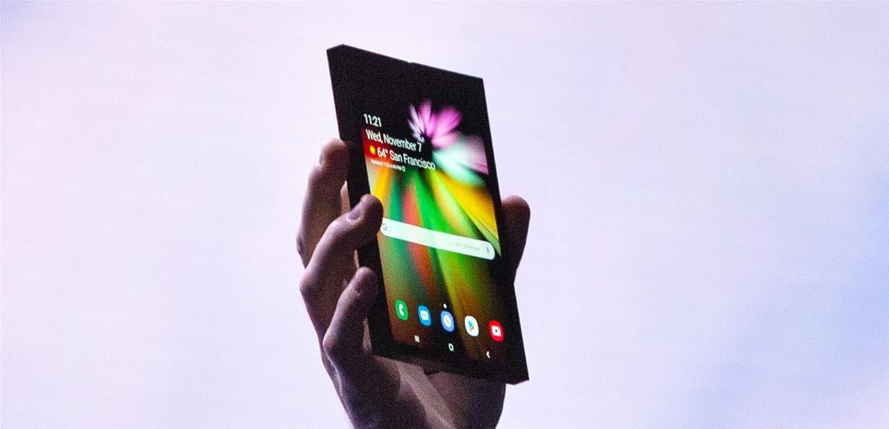 Samsung présente son prototype de smartphone pliable, Android se prépare