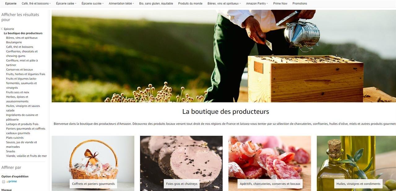 Amazon ouvre sa « boutique des producteurs locaux » en France : produits frais, foie gras, vin...