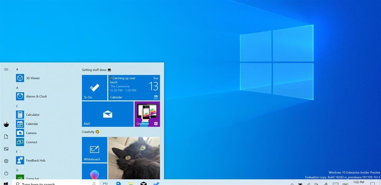 Windows 10 : la préversion 1828 introduit un nouveau thème clair