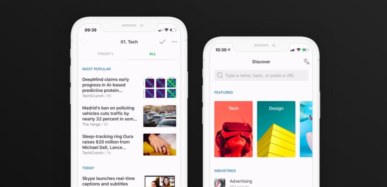 Feedly propose une nouvelle interface pour la gestion des flux RSS sur mobile