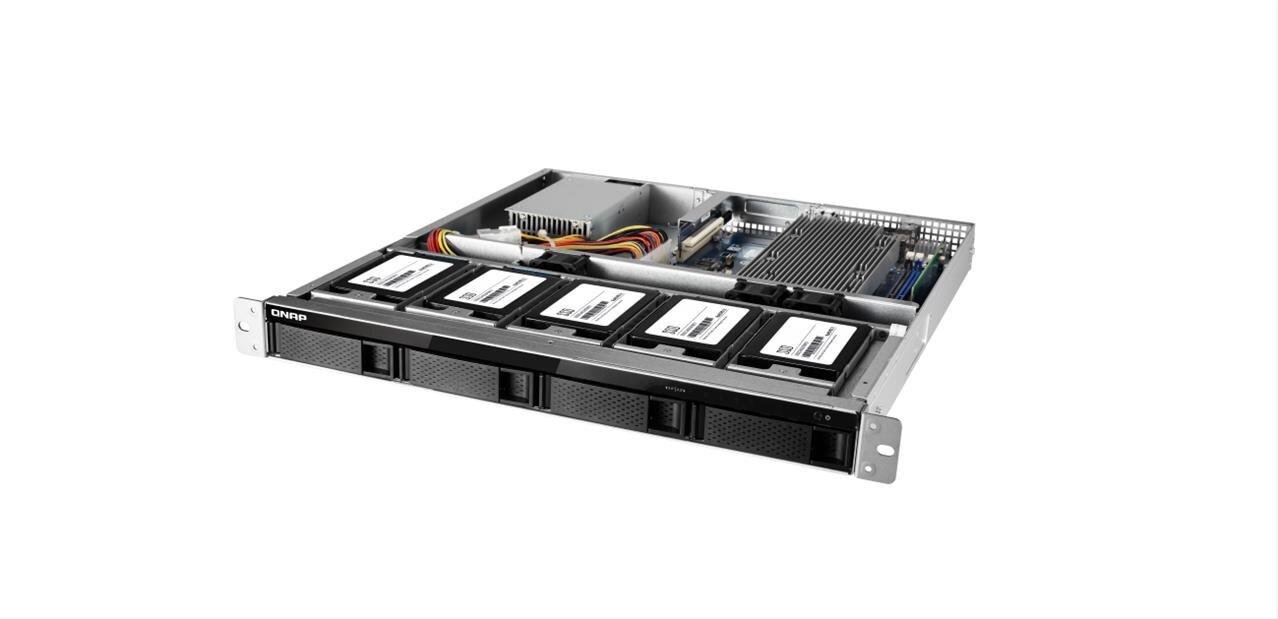 """QNAP TS-977XU : un NAS 1U avec Ryzen, 10 GbE, PCIe, emplacements de 3,5"""" et 2,5"""""""