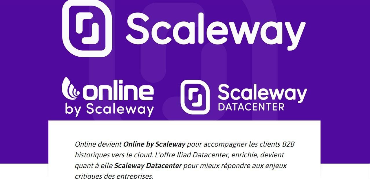 Scaleway devient la marque principale d'Online.net