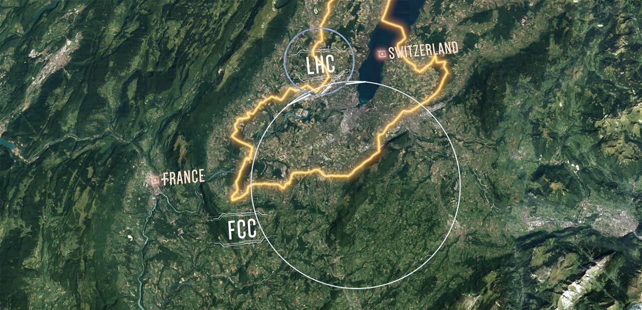 CERN : un projet pour un collisionneur circulaire post-LHC de 100 km de circonférence