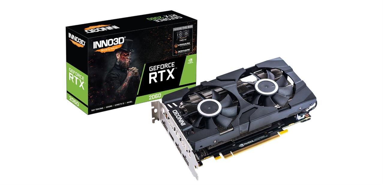 GeForce RTX 2060 INNO3D TWIN X2 à 344,98 € avec le code CARPE