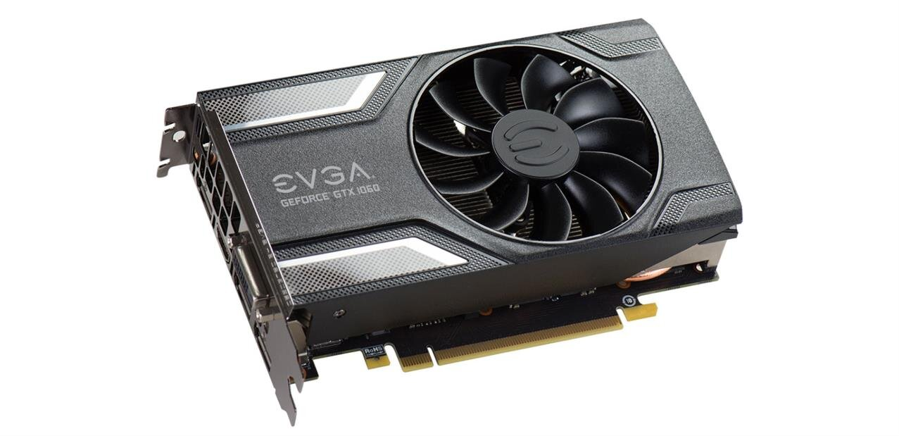 GeForce GTX 1060 EVGA SuperClocked Gaming (6 Go) : 199,90 €