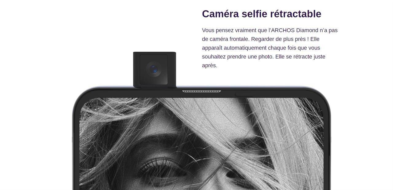Smartphones Archos : Diamond avec caméra rétractable à 299 €, Oxygen avec encoche de 99 à 149 €