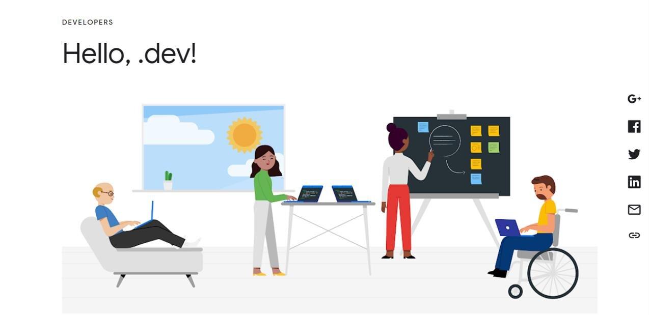 Google lance son nouveau domaine .dev, disponible le 28 février