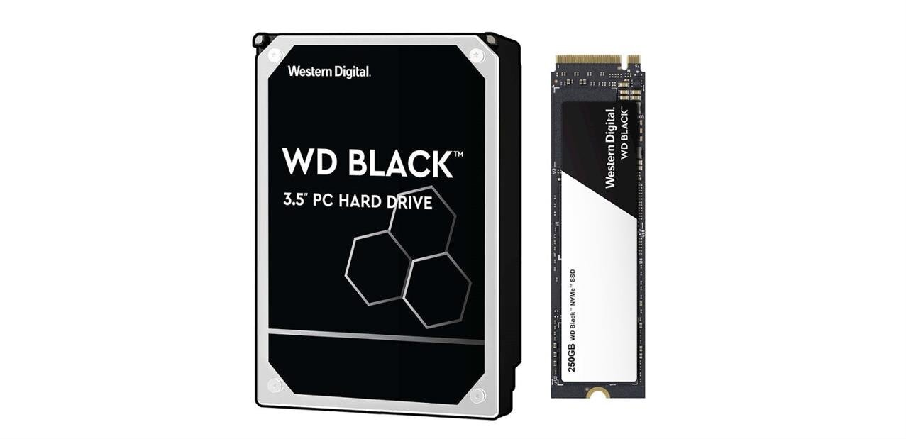 WD Black : HDD de 1 To et SSD M.2 (NVMe) de 250 Go à 134,90 €