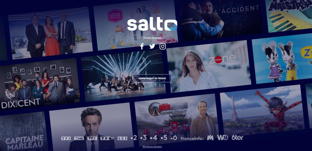 Salto, la plateforme de France Télévisions, TF1 et M6, arrivera au 1er trimestre 2020