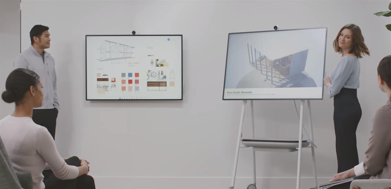 """Microsoft présente son Surface Hub 2S de 50"""" dédié à la collaboration"""