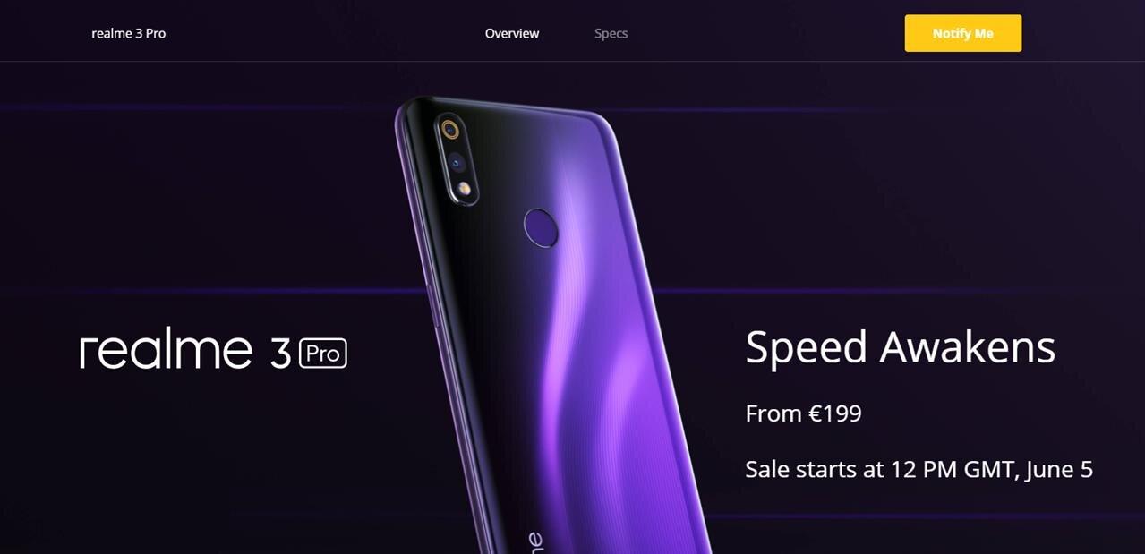 Realme lance en France son smartphone 3 Pro de 6,3
