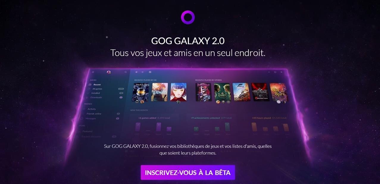 GOG Galaxy 2.0 : la promesse de regrouper « tous vos jeux et amis en un seul endroit »