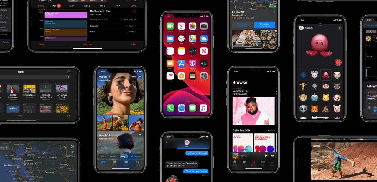 iOS 13 et watchOS 6 disponibles, iOS 13.1 et iPadOS le 24 septembre