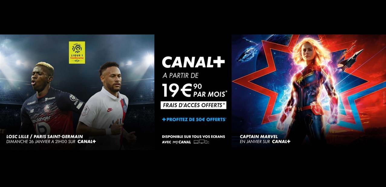 Canal+ et Ciné Séries (OCS, Netflix) : 36,90 € par mois, avec 1er mois et 50 € offerts