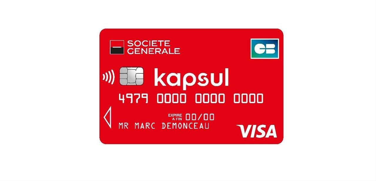 Société Générale lance Kapsul : carte Visa, cashback et chéquier sur demande, pour 2 euros par mois