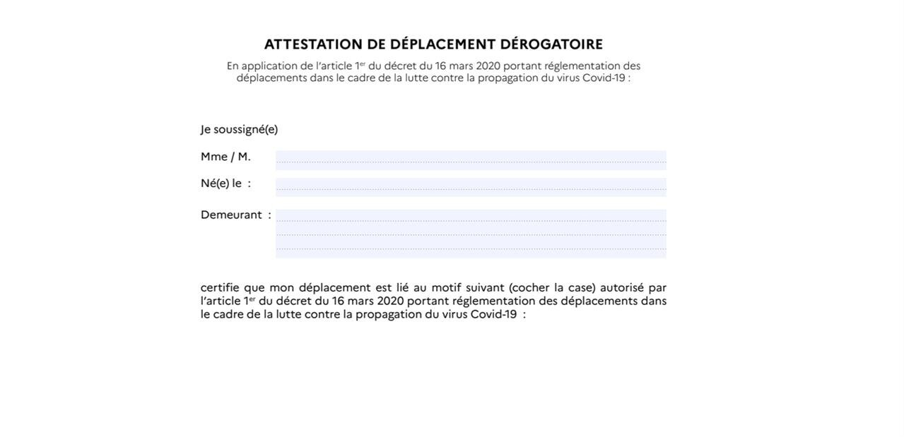 Attestation de déplacement : trois nouvelles justifications ajoutées par décret