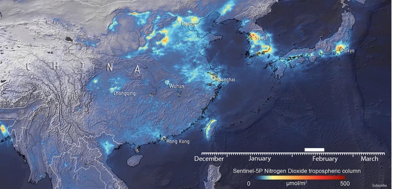 De janvier à mars, les niveaux de pollution atmosphérique en Chine
