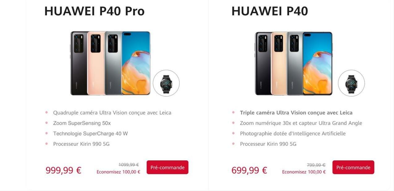 Huawei lance les P40 et P40 Pro(+) avec SoC Kirin 990 5G, à partir de 700 euros