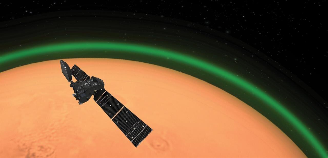 ExoMars détecte « une lueur verte d'oxygène dans l'atmosphère de Mars »
