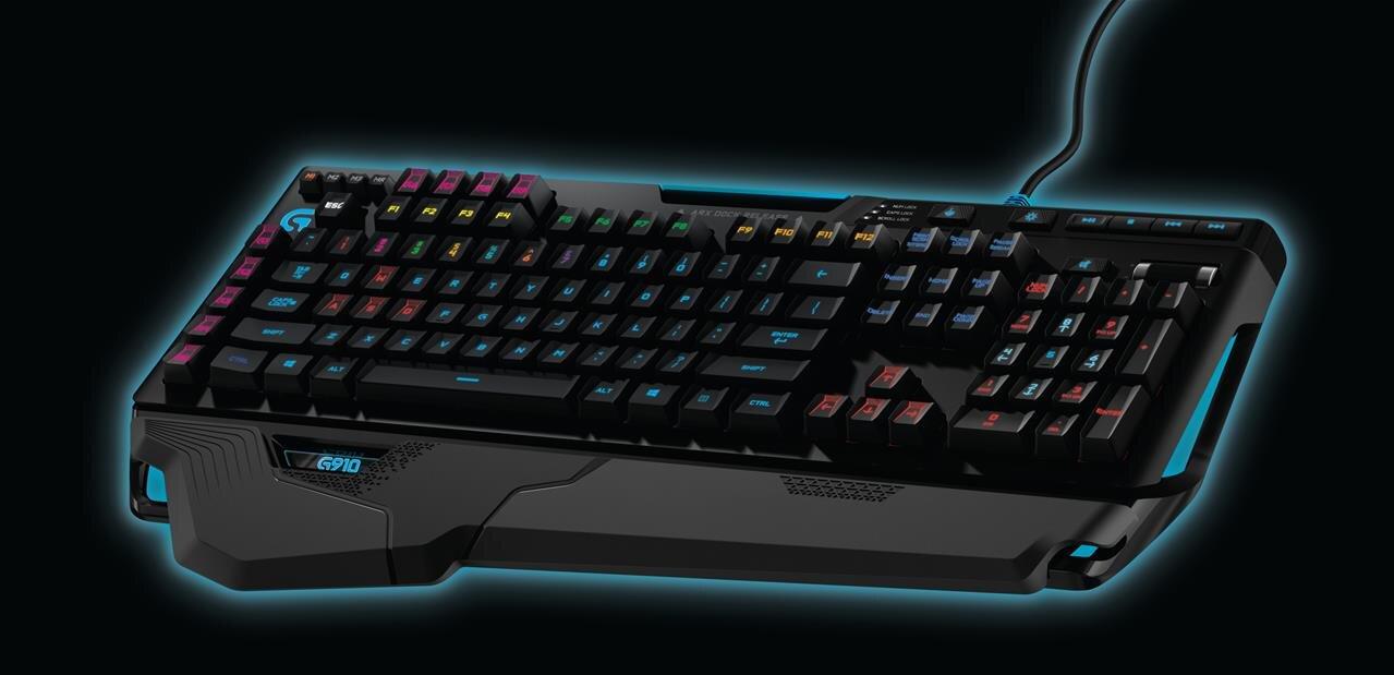 logitech g910 un clavier m canique haut en couleurs pour les joueurs. Black Bedroom Furniture Sets. Home Design Ideas