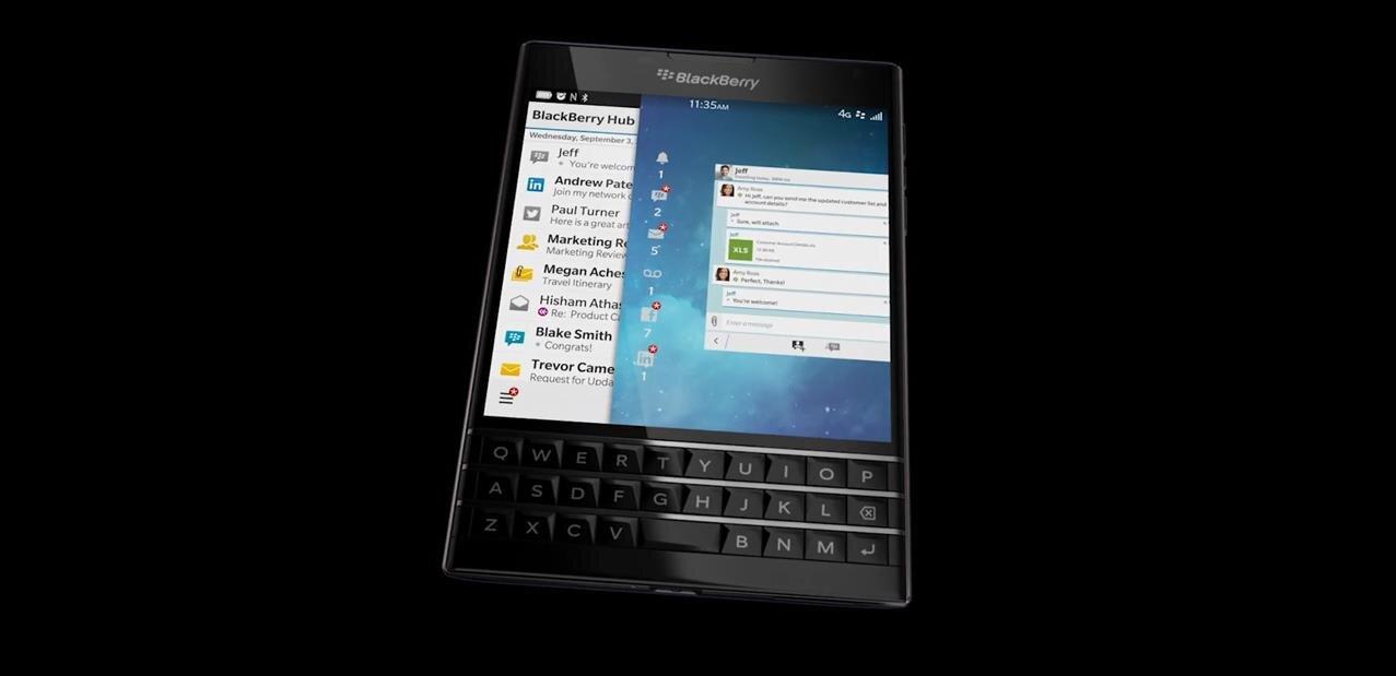 Blackberry passport cran carr et clavier physique for Photo ecran blackberry