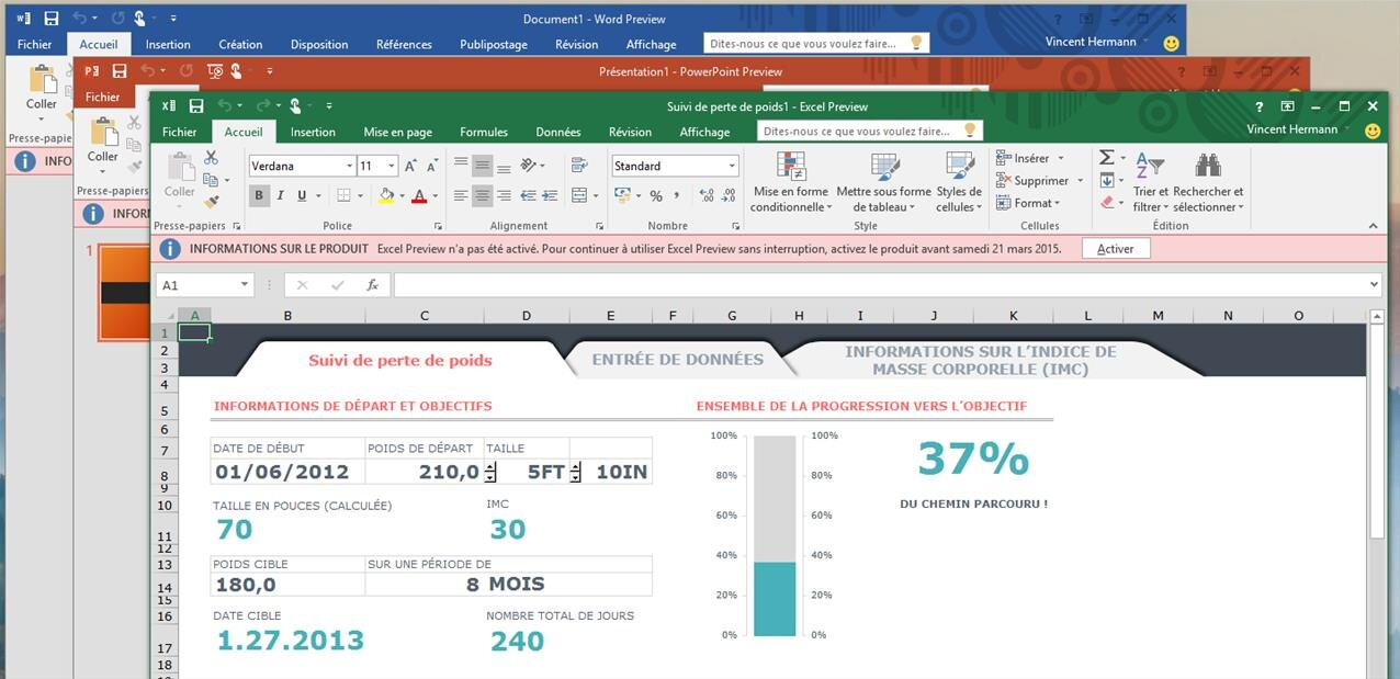 La preview publique d 39 office 2016 pour windows est disponible - Telecharger open office gratuit pour windows en francais ...