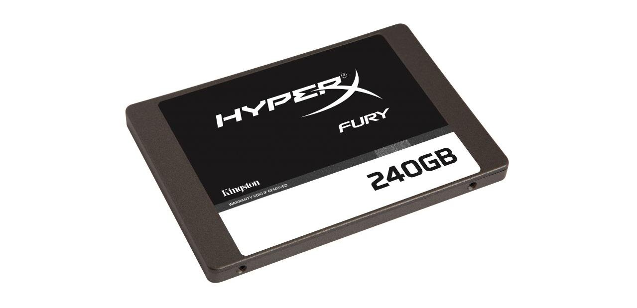 Un SSD Kingston HyperX Fury de 240 Go : 64,99 € (200 pièces)