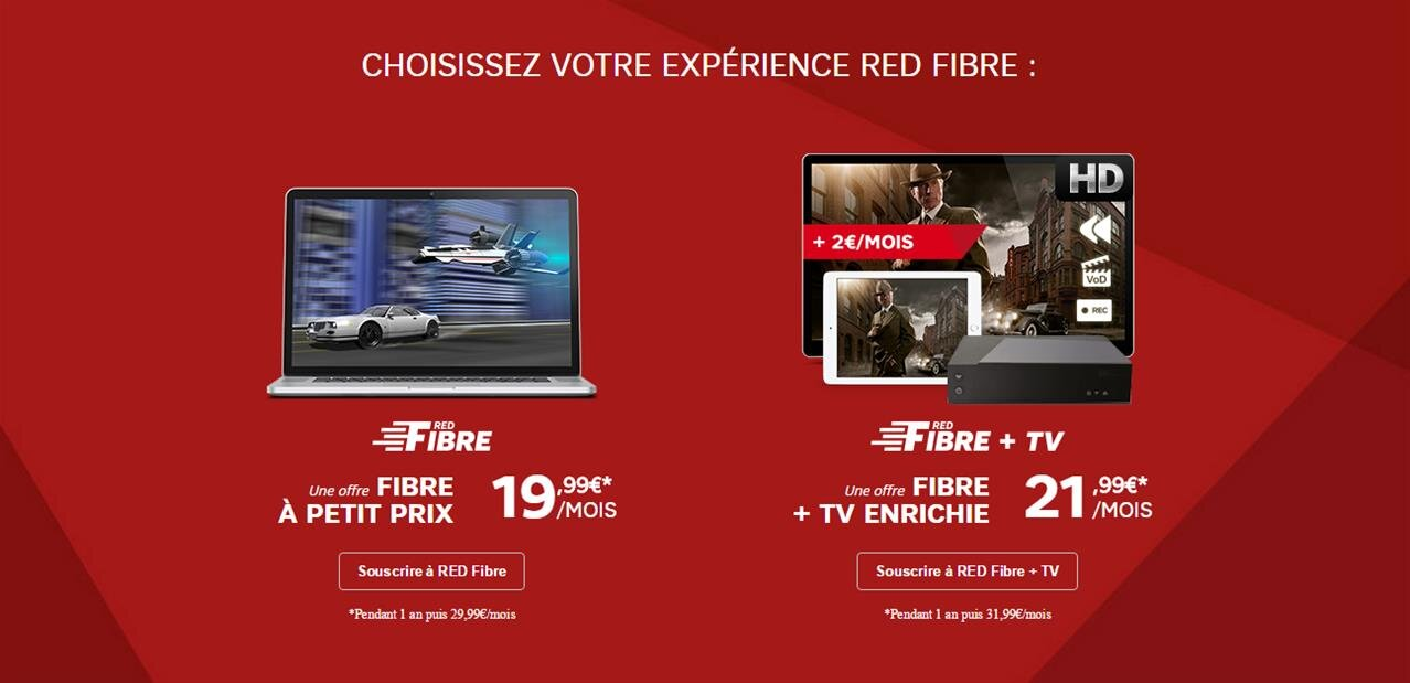 red fibre de sfr un d codeur tv pour 2 euros par mois. Black Bedroom Furniture Sets. Home Design Ideas