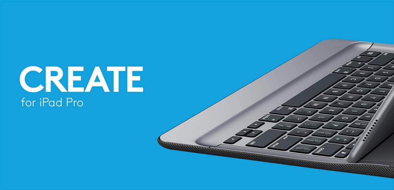 logitech create pour ipad pro un autre clavier compatible smart connector. Black Bedroom Furniture Sets. Home Design Ideas