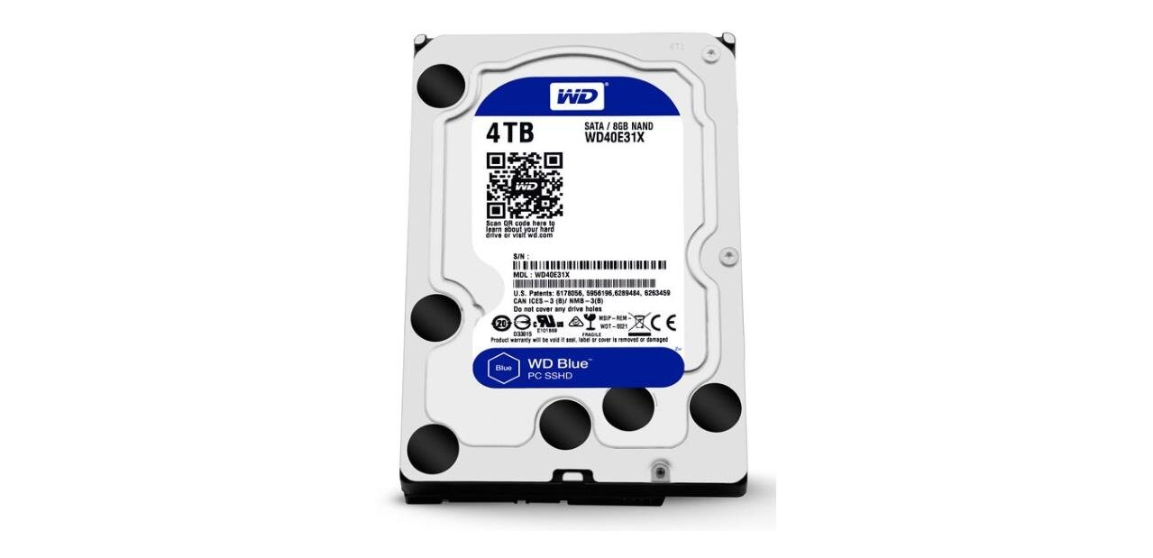 Disque dur Western Digital Blue de 4 To (5 400 tpm) : 89,90 €