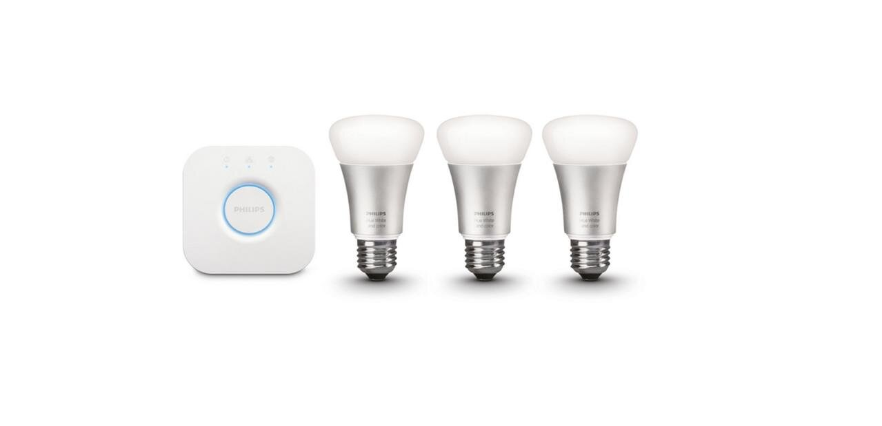 Pack de 3 ampoules Philips Hue Color (E27) avec pont V2 : 139,90 €