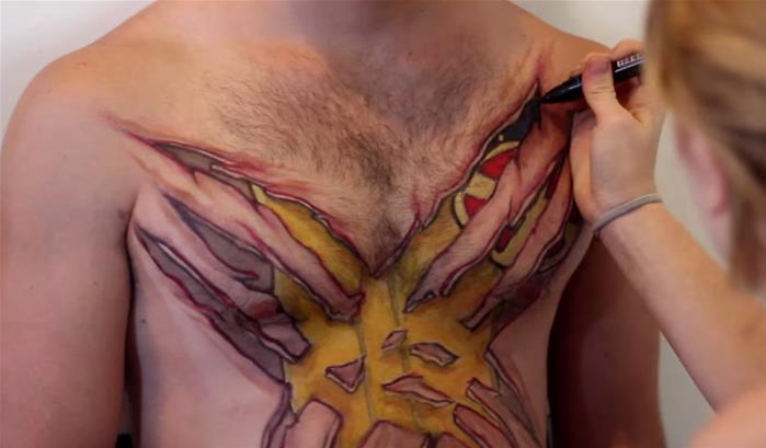 Wolverine en body-painting