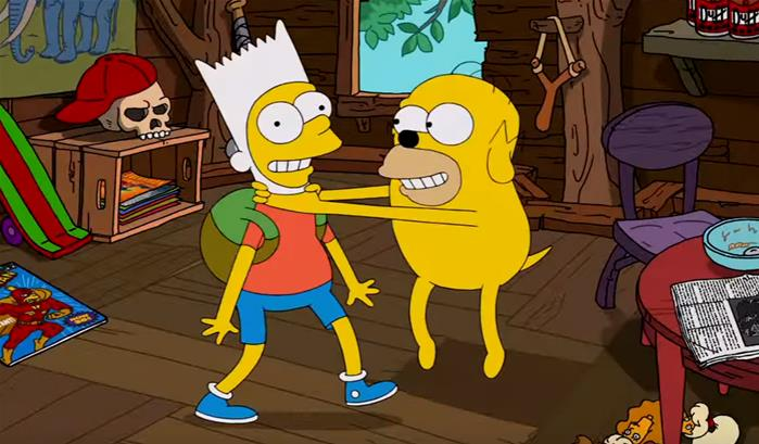 Quand les Simpson rencontrent Adventure Time '-thumbnail'